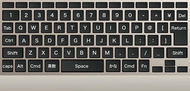 初期のキーボード配置