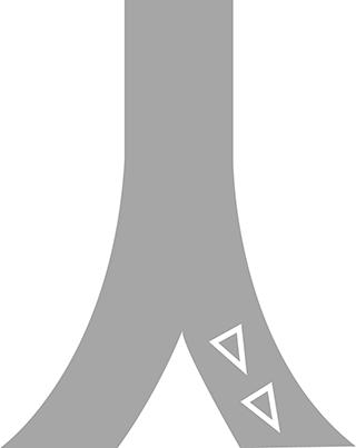 前方優先道路の標示