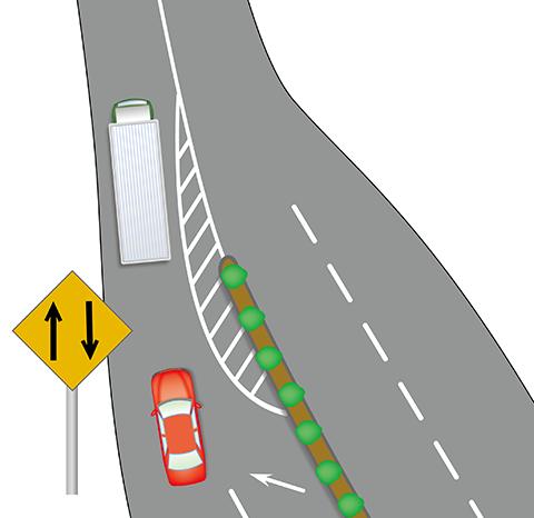 二方向交通の説明