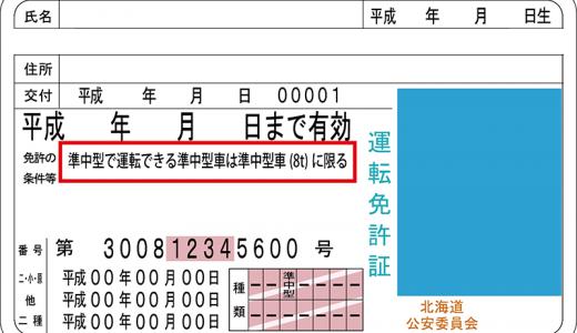 運転免許証の条件欄がさらに複雑になった!条件の種類を説明