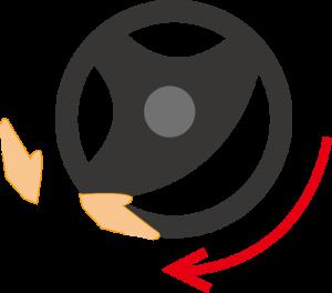 ハンドルの回し方3